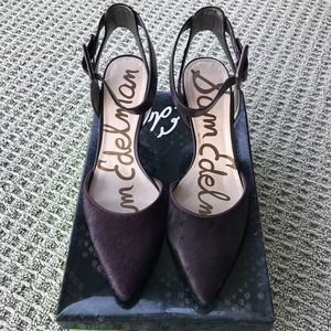 Sam Edelman Okala Burgundy calf hair shoe